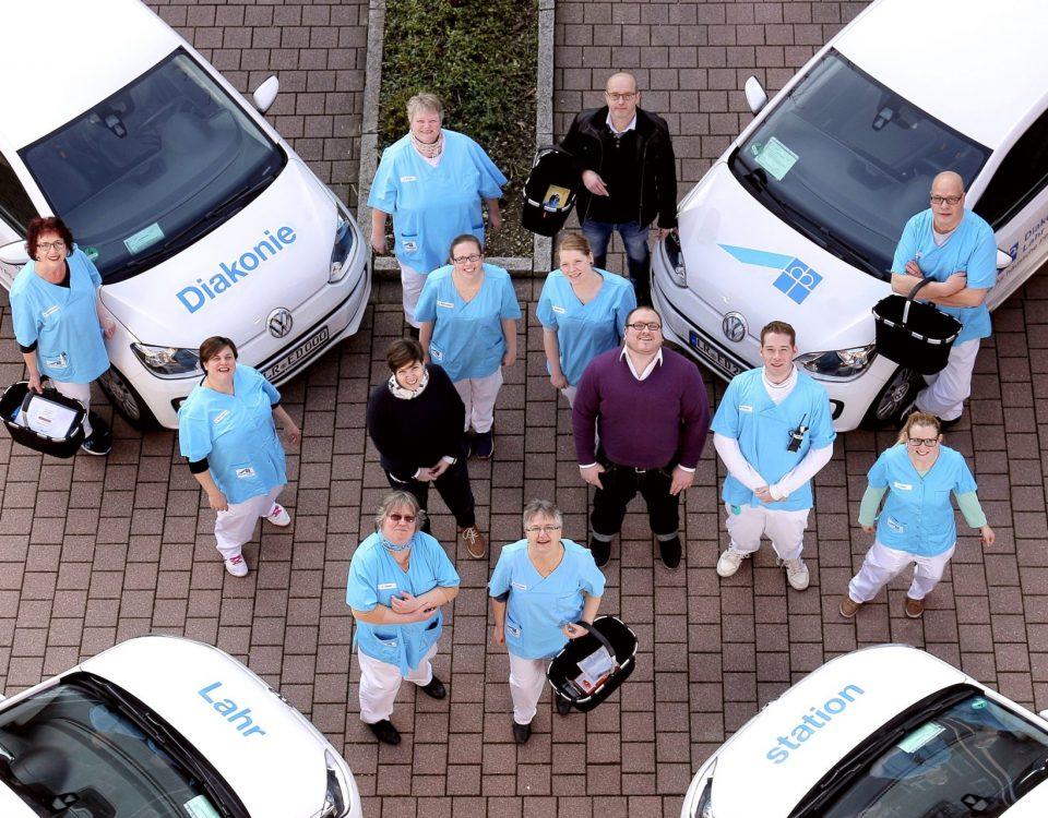 Das Team der Diakoniestation Lahr – Ihr Partner für häusliche Pflege.