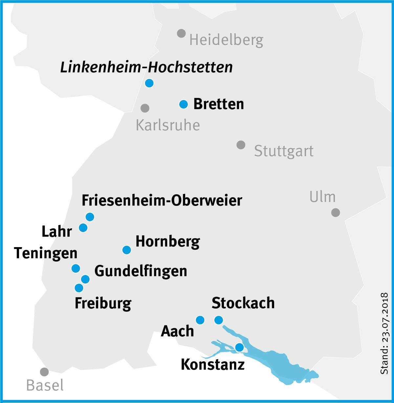 Übersicht der Einrichtungen und Pflegedienste des Evangelischen Stift Freiburg
