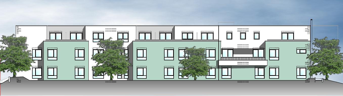 Illustration des neuen Quartiershaus Aach