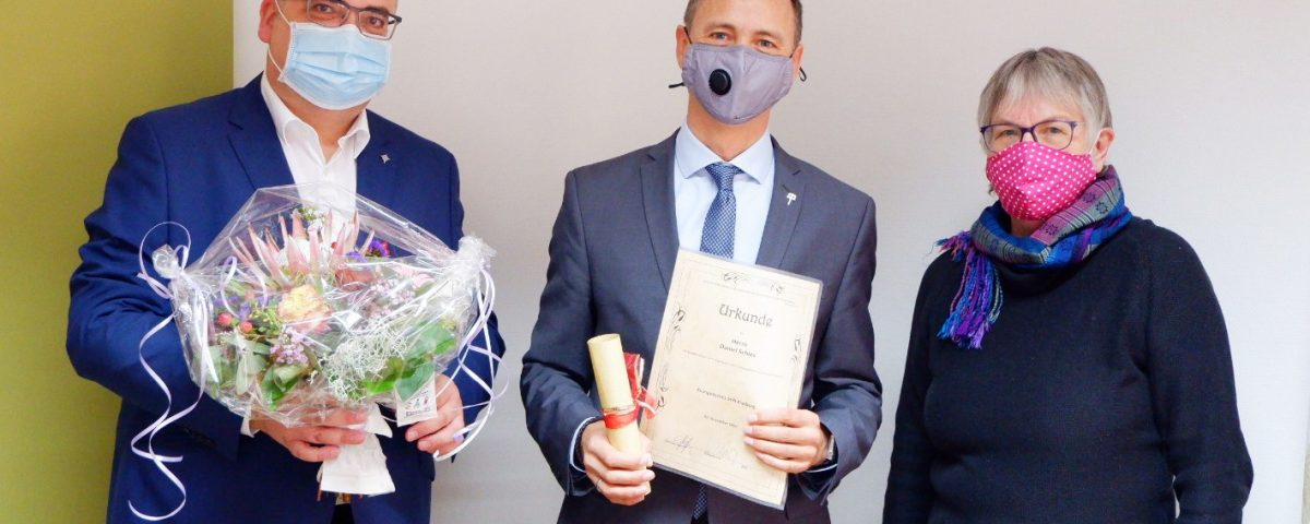 Verleihung des Kronenkreuz an Daniel Schies