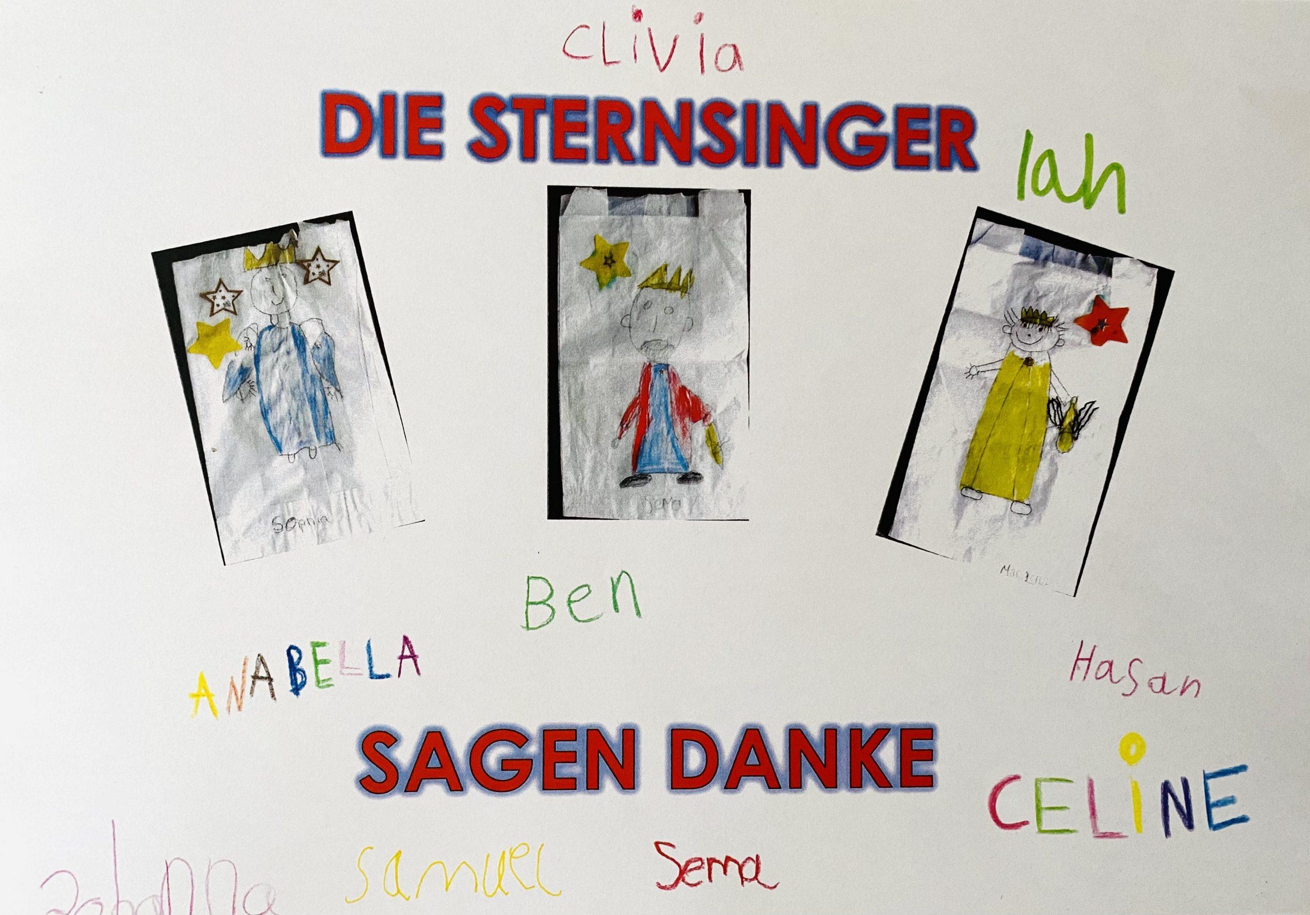 """Die Sternsinger der Malteserschule Heitersheim sagen """"DANKE"""""""