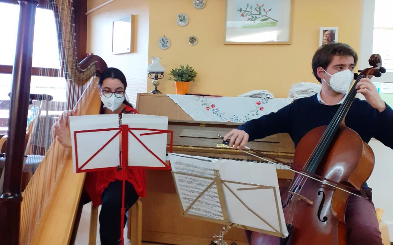 Harfe und Cello