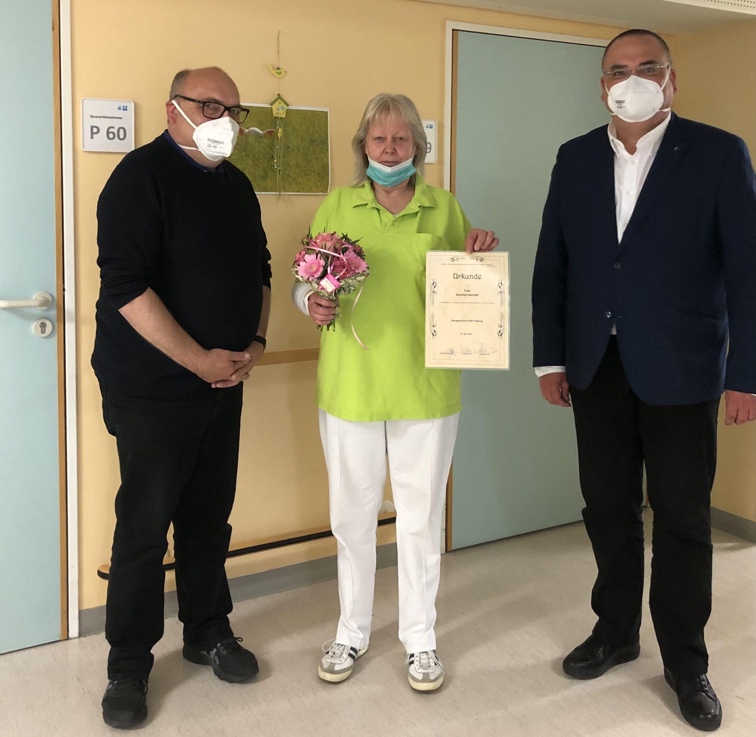 20jähriges Dienstjubiläum im Seniorenzentrum Gundelfingen