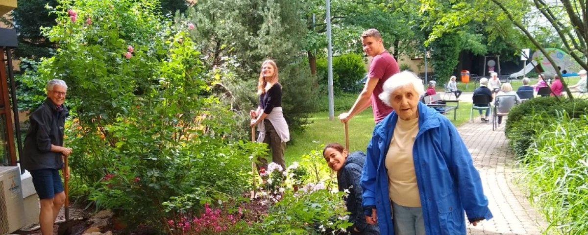 Blumenprojekt im Stiftspark 2021